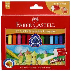 12 Colors Grip Triangular Wax Crayons