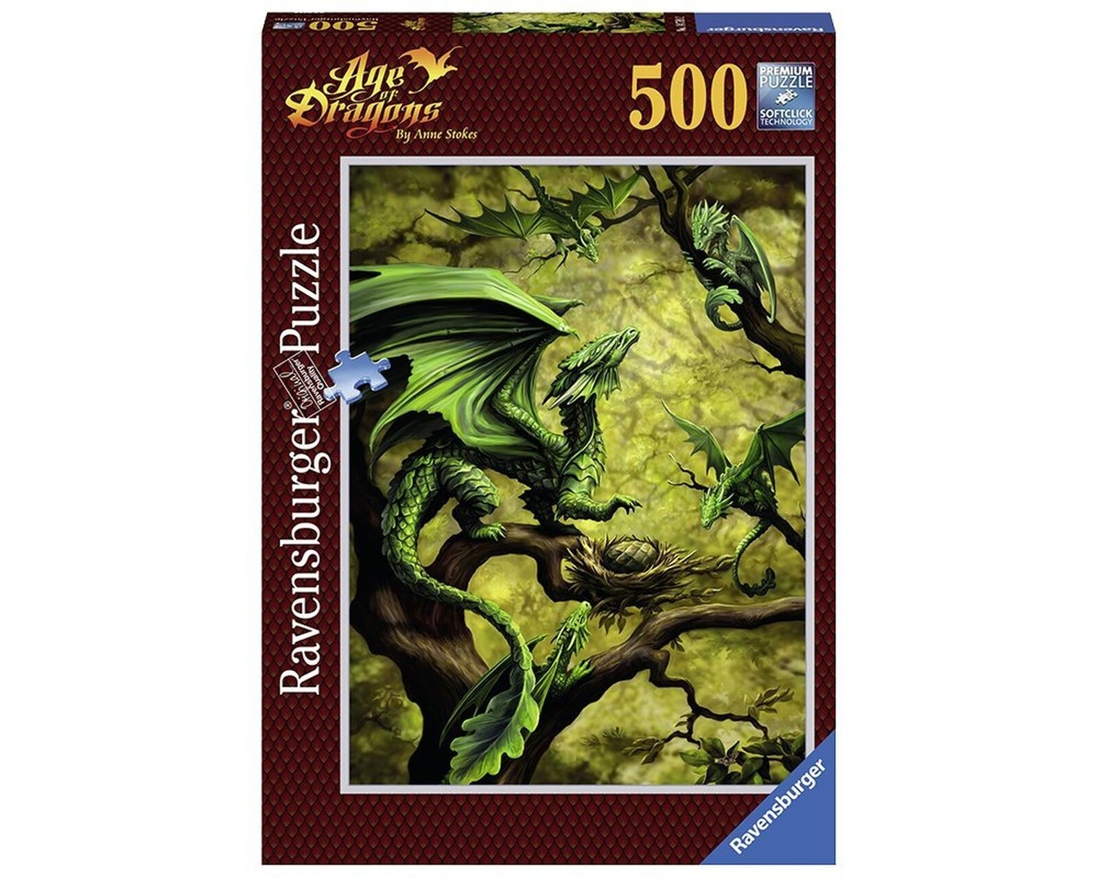Forest Dragon By Anne Stokes Puzzle - 500 Pieces