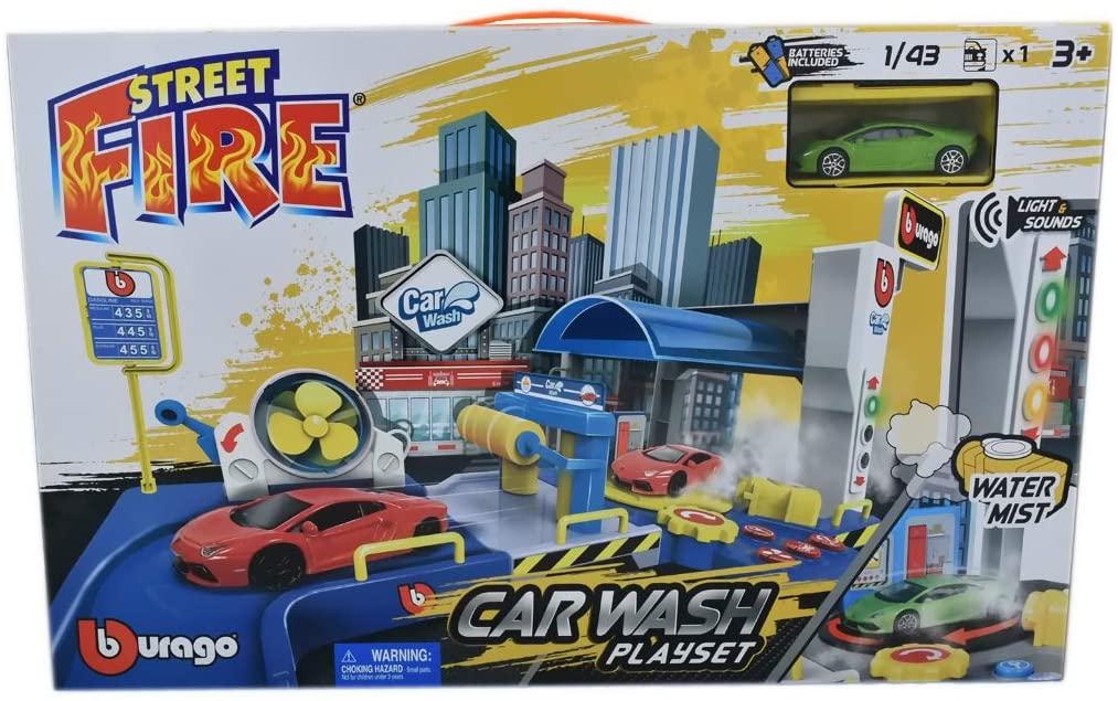 Street Fire Car Wash Play Set