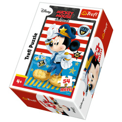 Police Mickey Mouse Mini Puzzle 54 Pieces