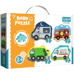 Baby Classic Vehicles And Jobs - 4 Shapes