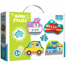 Baby Transport Vehicles Shapes Puzzle - 4 Shapes