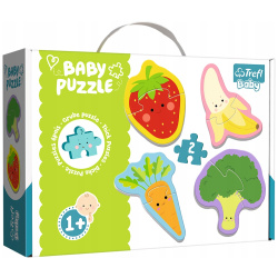 Baby Vegetables And Fruits Puzzle - 4 Shapes
