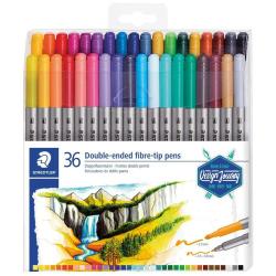 36 Double Ended Fibre Tip Flow Master Colors