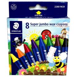 8 Super Jumbo Wax Crayons