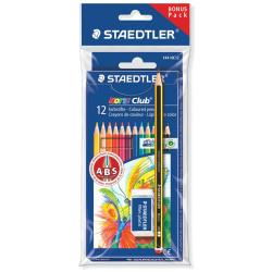 12 Coloured Pencils & Eraser