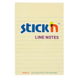Sticky Notes Line Notes Yellow - 15X10.1 Cm