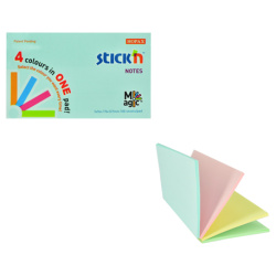 Sticky Notes 4 Colours In One Pad - 7.6X12.7 Cm