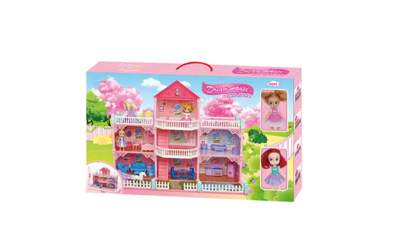7 In 1 Girl Dream House - 189 Pcs