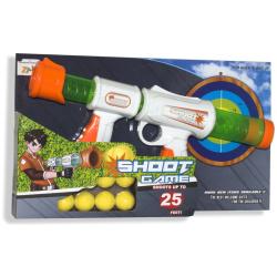 Shooting Game Gun Up To 25 Feet with Balls