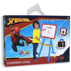 Spiderman Learning Easel Included Magnetic Letters