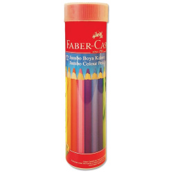 12 Colors Jumbo Size Coloring Pencils In A Metal Cup