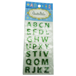 Sticker Glitter English Letters - Random Pick
