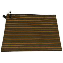 Striped Fabric Zip Folder B4