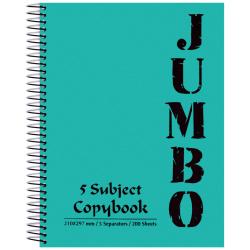 A4 Jumbo Note Book 5 Subject - 200 Sheet
