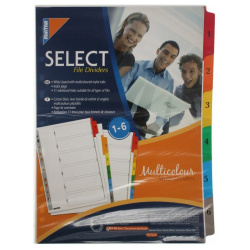 6 MultiColor Maylar Index Dividers