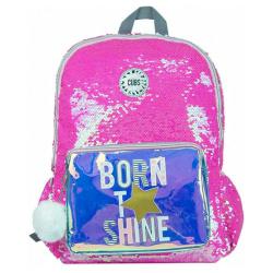 Sequins 18 inch Backpack - Hot Pink