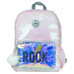 Sequins 18 inch Backpack - Baby Pink