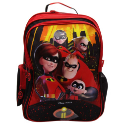 Incredibles Black-Red Backpack - 18 inch