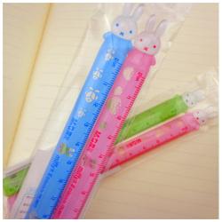 2 Plastic Rabbit Rulers 12 cm