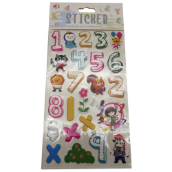 Sticker 3D Numbers