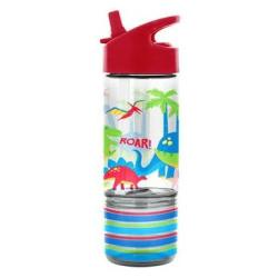 Sip and Snack 350ml Bottles - Dinosaur