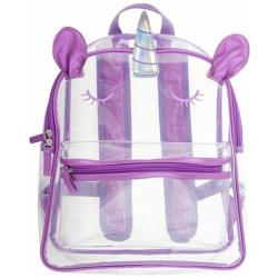 Clear 14 inch Backpack - Unicorn
