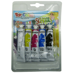 5 Gouache Colors Tubes