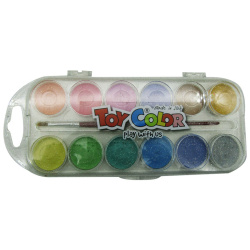 12 Water Colors - Glitter