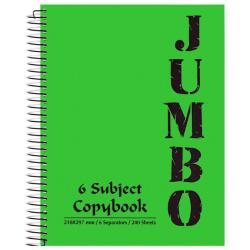 A4 Jumbo Spiral Notebook 6 Subjects