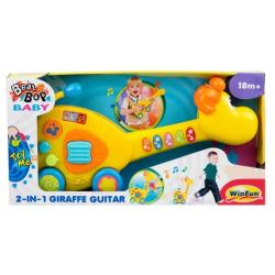 2-In-1 Giraffe Guitar with Sound & Lights