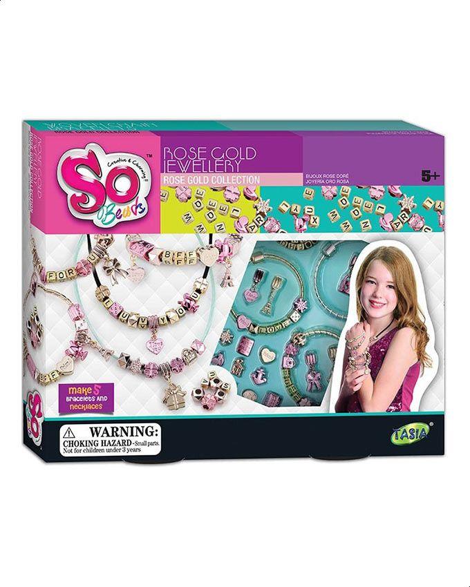 Beads Jewelry Box - Rose Gold