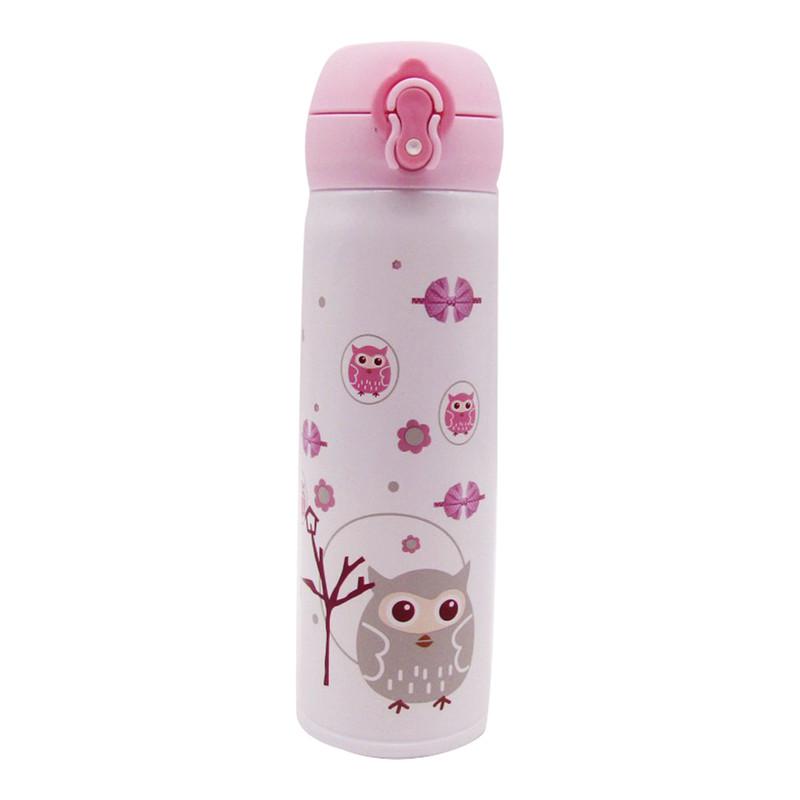 Stainless Steel Bottle 500ML - Owl White
