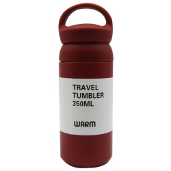 Stainless Steel Bottle 350ML With Red Hand
