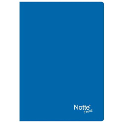 Stitched Plastic Cover Trend Lined Notebook - Random Pick