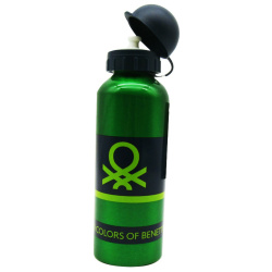 Navy Benetton Stainless Steel Bottle