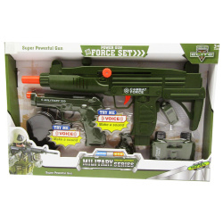 Military Power Force Gun Set with Lights & Sounds