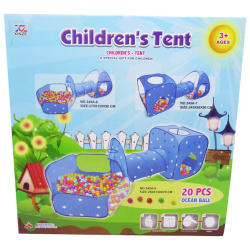 Kids tent with tunnel