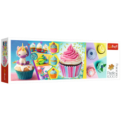 Colorful Cupcakes Panoroma Puzzle - 1000 Pieces