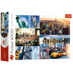 New York - collage Puzzle - 4000 Pieces