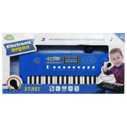 Electronic Organ 37 Key With Microphone - Blue