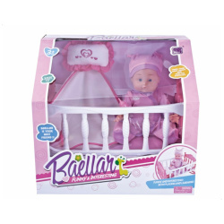 Baby Doll with Bed for Girls - Pink