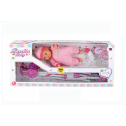 Baella Baby Doll with Stroller