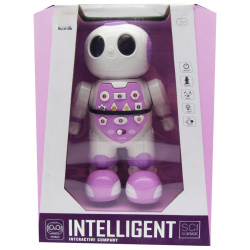 Intelligent Robot with Music & Lights - Pink