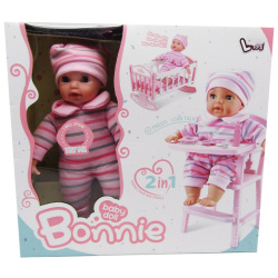 Bonnie Baby Doll with Dining Chair & Cradle