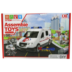 Assembie Toys Ambulance with Sounds - 52 Pcs