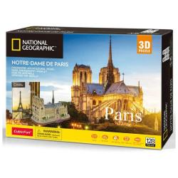 National Geographic 3D Puzzle Paris - 128 Pcs