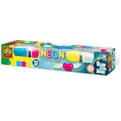 Play dough Neon & Glow in the Dark - 4 Pcs
