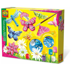 Coloring Set - Butterfly & Glitter