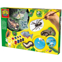 Coloring Set - Glow in The Dark Scary animals